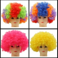 200 stücke Party Perücken Bunte Afro Clown Haar Kind Erwachsene Kostüm Fußballfan Perücke Haar Halloween Regenbogen Cosplay Perücken ZA4988