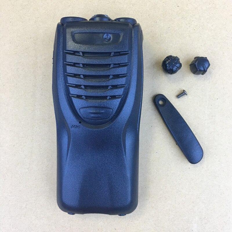 10x حالة الإسكان شل الجبهة ل كينوود TK3307/2307 TK3302/2302 يتحملها مع شعار konbs sticers الغبار غطاء البطارية قفل