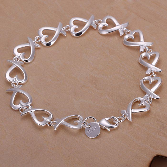 Fina de verão estilo chapada pulseira de prata 925-sterling-silver jóias bijuteria kelp pulseiras de cadeia para mulheres homens