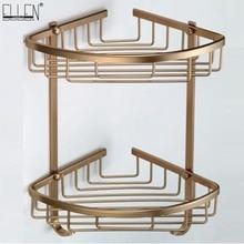 Bath Corner Shelf Antique Bronze Bathroom Shower Shelf Shampoo Holder Shelves  Storage Shelf Rack Bathroom Basket Holder EF2301