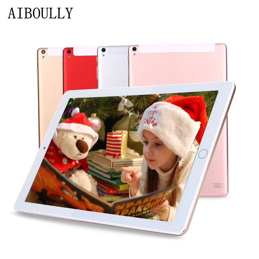 "AIBOULLY Original Tablet PC 10,1 pulgadas Android 7,0 OS Octa Core 4GB RAM 64GB ROM 32GB llamada de teléfono tabletas con GPS WiFi 8 9,7"""