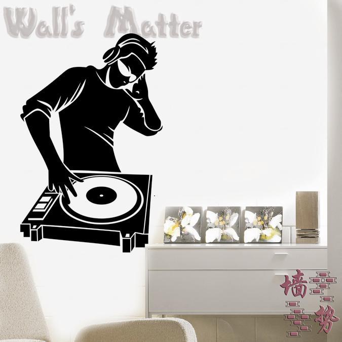 Bar DJ pegatinas de pared decoración de pared papel de pared calcomanía decoración del hogar