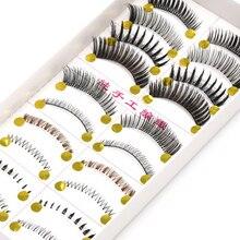 YOKPN 10 paires de Styles différents faux cils couleur exagérée entrecroisement malpropre cils inférieurs danse spectacle maquillage faux cils
