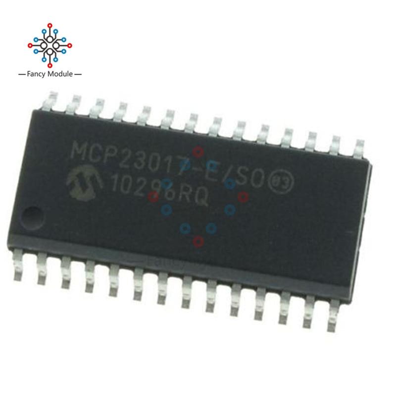 10 PCS MCP23017-E/SO SOP-28 MCP23017 16-Bit I/O Expander com I2C Interface IC