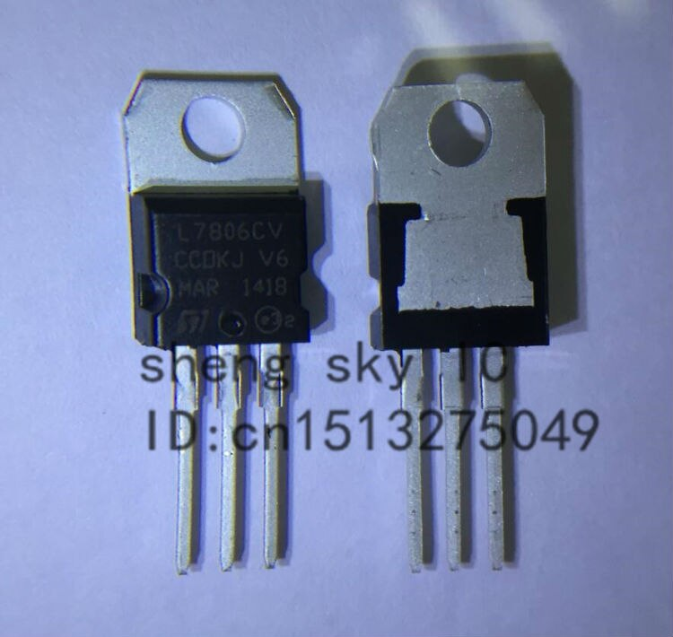 Бесплатная доставка 50 шт. L7806CV L7806 LM7806 7806 TO220 TO-220 Регулятор напряжения IC 6В