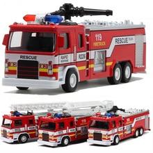 Escala 132, vehículos de construcción de aleación, modelo extraíble, camión de bomberos, modelo de camión fundido para regalos para bebé, juguetes, envío gratis