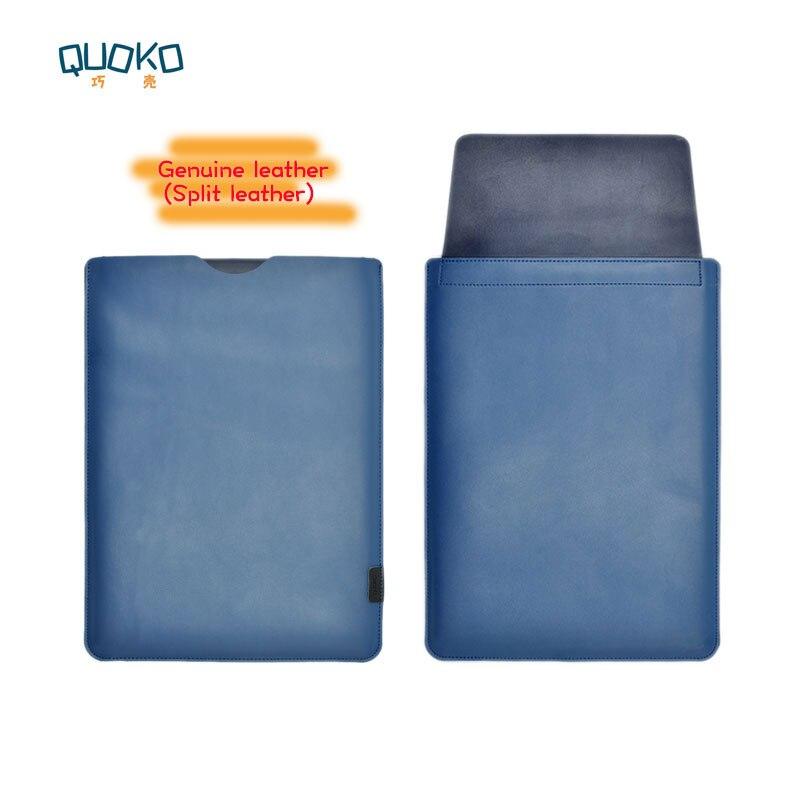 Venda chegada ultra-fino super slim manga capa bolsa, couro genuíno laptop sleeve case para Dell XPS 13 15 9360 9570