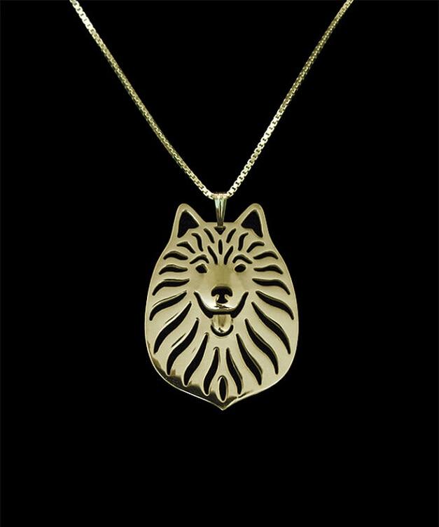 DANGGAO Newest Unique fashion Handmade Japanese Spitz Necklace Dog Jewelry Pet Lovers Gift pendant choker necklace charm jewelry