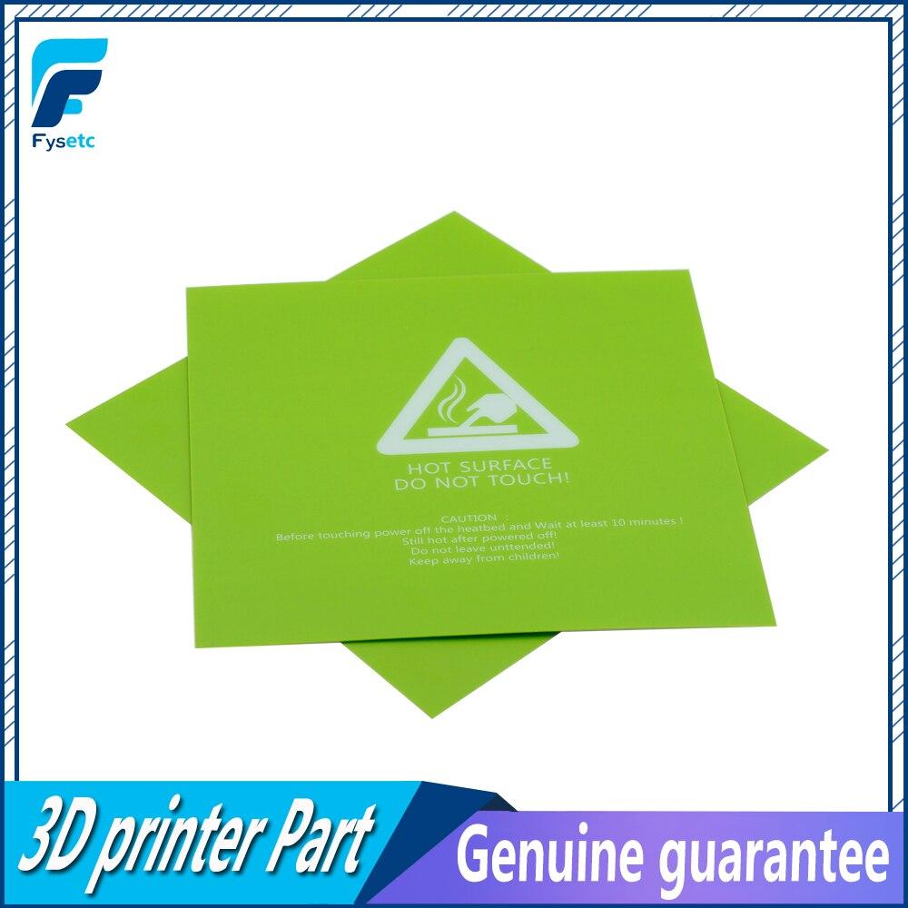 1 шт. 300x300 мм 3D принтер горячие наклейки для кровати зеленые печатные наклейки для горячей поверхности кровати часть для принтера TEVO Tornado Lulzbot Taz6