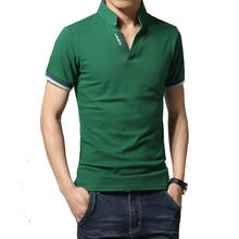 2020 Summer Mens T Shirt Solid Short Sleeve T Shirt Men LAISO Print V Neck Slim Fit Mens Top Tees Shirt M-5XL AYG249