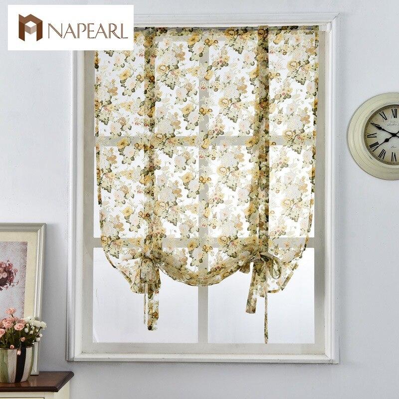Римские занавески, стиль кафе, короткие занавески на дверь, прозрачная Тюлевая ткань, современные занавески для кухни, занавески на окна с ц...