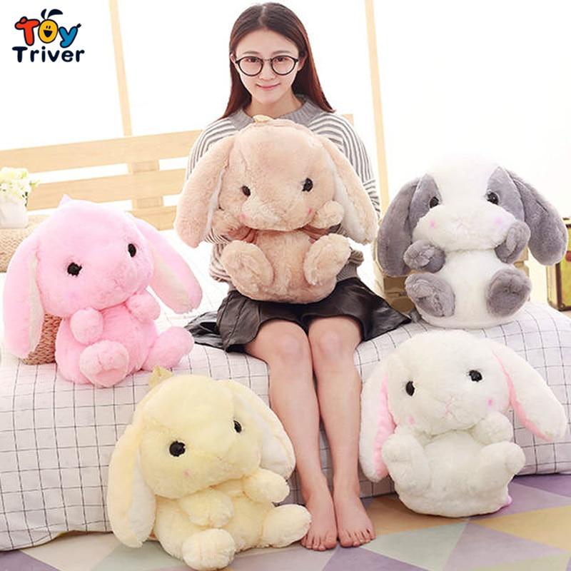 Kawaii Cute Rabbit Bunny Shoulder Backpack Crossbody Bag Coin Purse Messenge Bags Plush Toys Girls Girlfriend Kids Children Gift