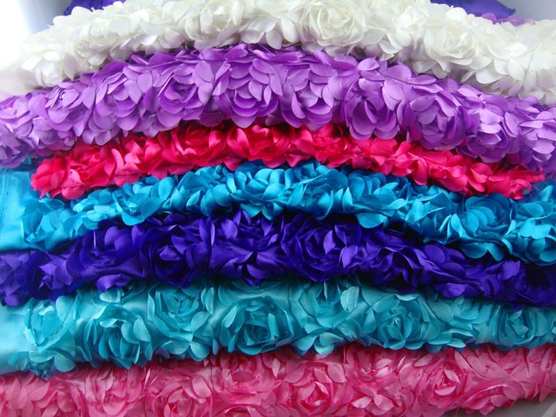 Envío Gratis cifrado 3d alfombra Rosa tridimensional accesorios de boda mantel tela diy 3 metros