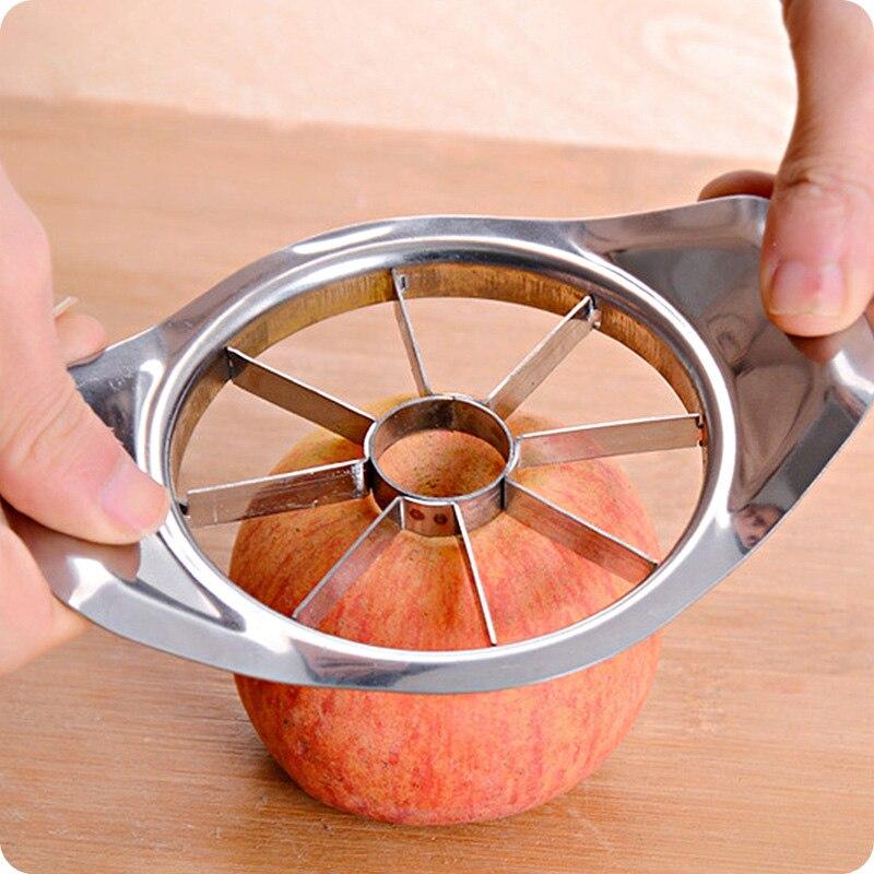 Cortador de maçã de aço inoxidável criativo barra de cozinha útil frutas slicer descascador