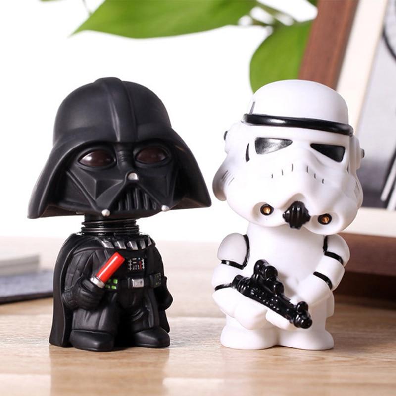 20 Pçs/lote 11cm Figura de Ação de Star Wars Darth Vader Modelo Wacky Wobbler Bobble Cabeça A cabeça Pode Ser Abalada