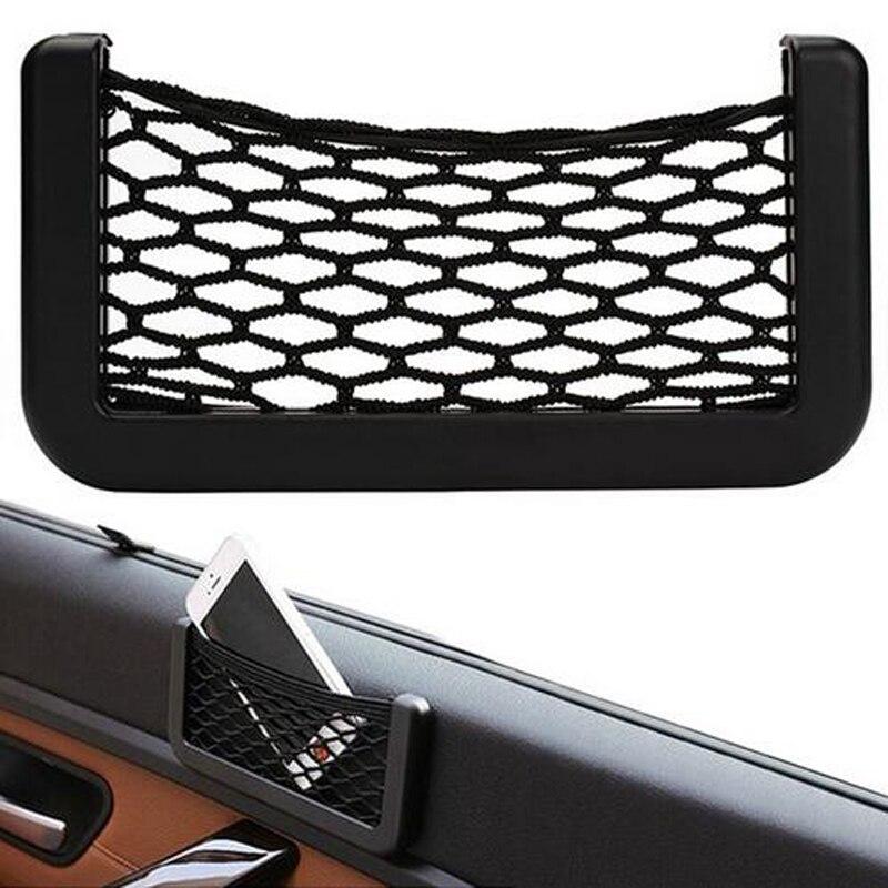 Автомобильное сиденье боковое заднее хранилище Сетчатая Сумка для Audi A4 B6 B8 Passat B5 B7 Skoda Octavia A7 A5 Renault Megane 2 3 Ford Focus mk2 Lada