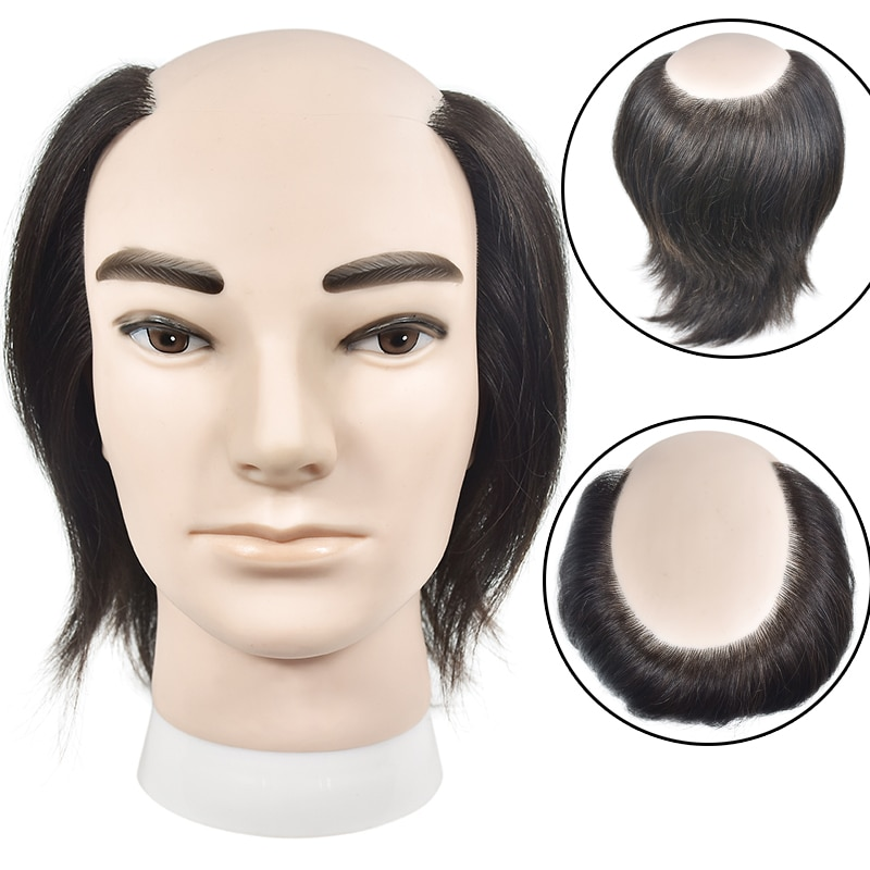 Hot Sale Male Mannequin Head 100% Real Human Hair Hairstyling Training Dolls Manikin Wig Dummy For Hair Cosure Piece Display