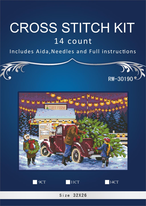 Top Quality Hot Selling Lovely Counted Cross Stitch Kit Christmas Tree Ornament Dim 08802 JCS Simlar dmc threads RW-3019