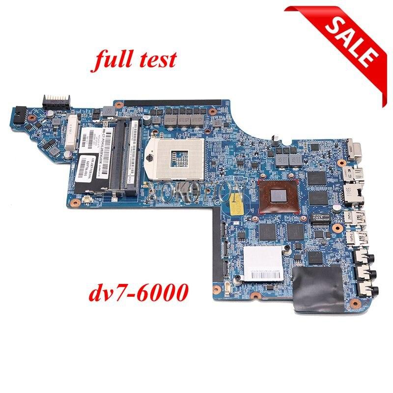 Placa base para ordenador portátil NOKOTION 665991-001 639391-001 para HP Pavilion DV7 DV7-6000 HM65 HD 6770 M la prueba