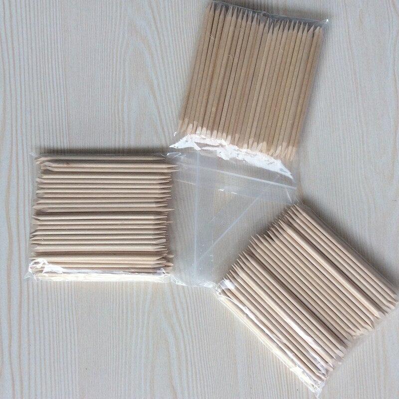 Escova do prego 20/50/100 pçs/set Nail Art Laranja Vara De Madeira para Decorações Nail Art Cuticle Remover Pusher Pedicure Manicure Ferramenta