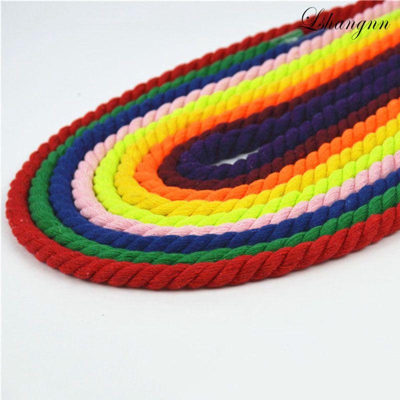 100% хлопок, 10 метров, 3 шт., витые хлопковые шнуры 8 мм, ручная декоративная веревка, хлопковый шнур для сумки, шнурок, ремень, 20 видов цветов