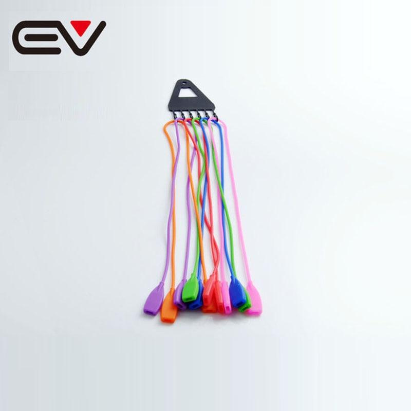 ¡Novedad! 6 uds. Cordón de silicona colorido para gafas lentes de cuerdas correa de cuello de vidrio de lectura soporte para gafas EV1270