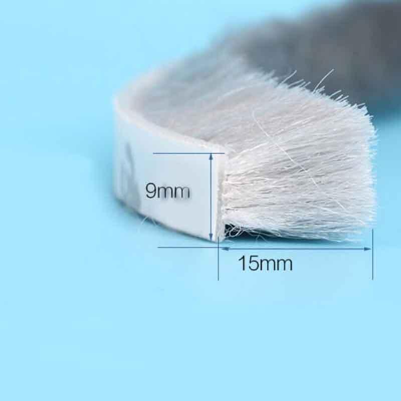 3 m x 9mm x 15mm autoadhesivo de aluminio a prueba de polvo cinta de la puerta de la ventana burlete puerta Junta