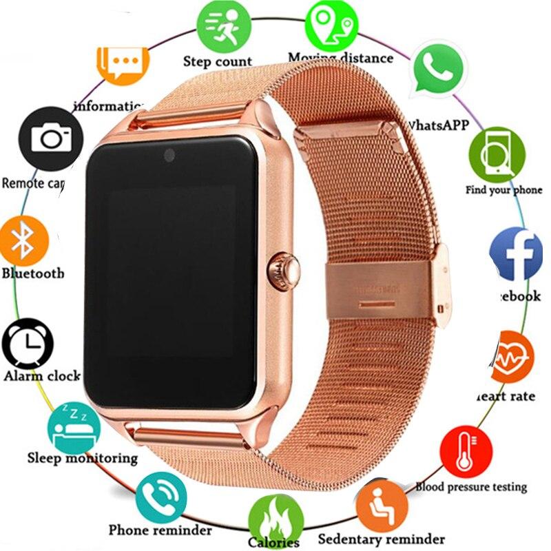 Gran oferta de reloj inteligente Bluetooth Z60 para hombre y mujer, reloj inteligente con Bluetooth 2G, compatible con SIM/tarjeta TF, reloj de pulsera para IOS, teléfono Android PK A1