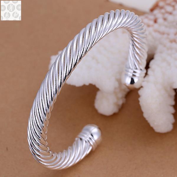 B030 frete grátis! Gv teste passado mais recente na moda clássico n925 carimbado cor prata chapeado jóias venda quente bangle preço por atacado
