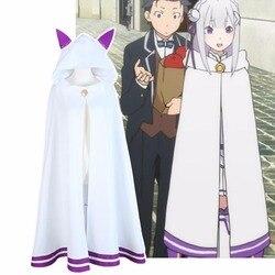 2016 re zero kara hajimeru isekai seikatsu emilia elf cosplay gato orelha capa manto anime dos desenhos animados uniforme frete grátis