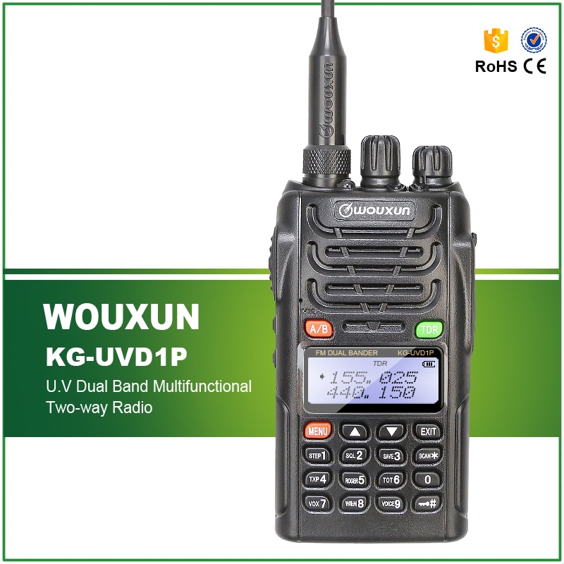 New Original Wouxun KG-UVD1P VHF/UHF Dual Band VHF Waterproof IP55 Handheld  FM Transceiver