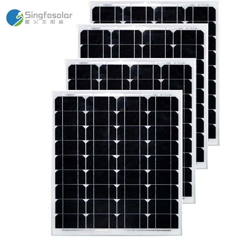 Zonnepaneel 12 volt 50 watt 4 PCs Solar Panel 48v 200w Solar Ladegerät Solar-Off Grid System auto Caravan Camping