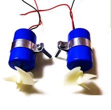 7.4 v 16800 rpm rc 제트 엔진 모터 수중 스러 스터 diy rov 로봇 모델 보트 잠수함 부품 용 3 블레이드 프로펠러 키트