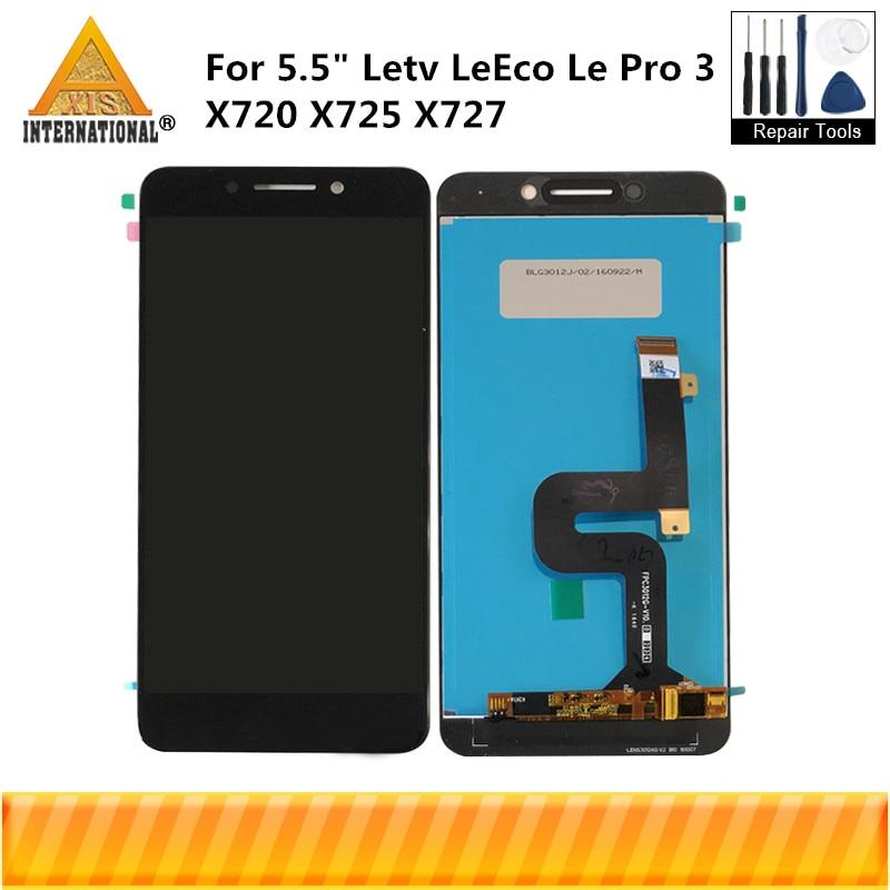 "Original Axisinternational 5.5 ""Für Letv Leeco Le Pro 3 X720 X725 X727 Lcd Screen Display + Touch Digitizer Für letv Leeco Le Pro"