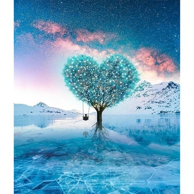 DIY,Full Square,Diamond Embroidery,Blue Tree Photo custom,Diamond Painting,Cross Stitch,3D,Diamond Mosaic,Home Decor JS1509