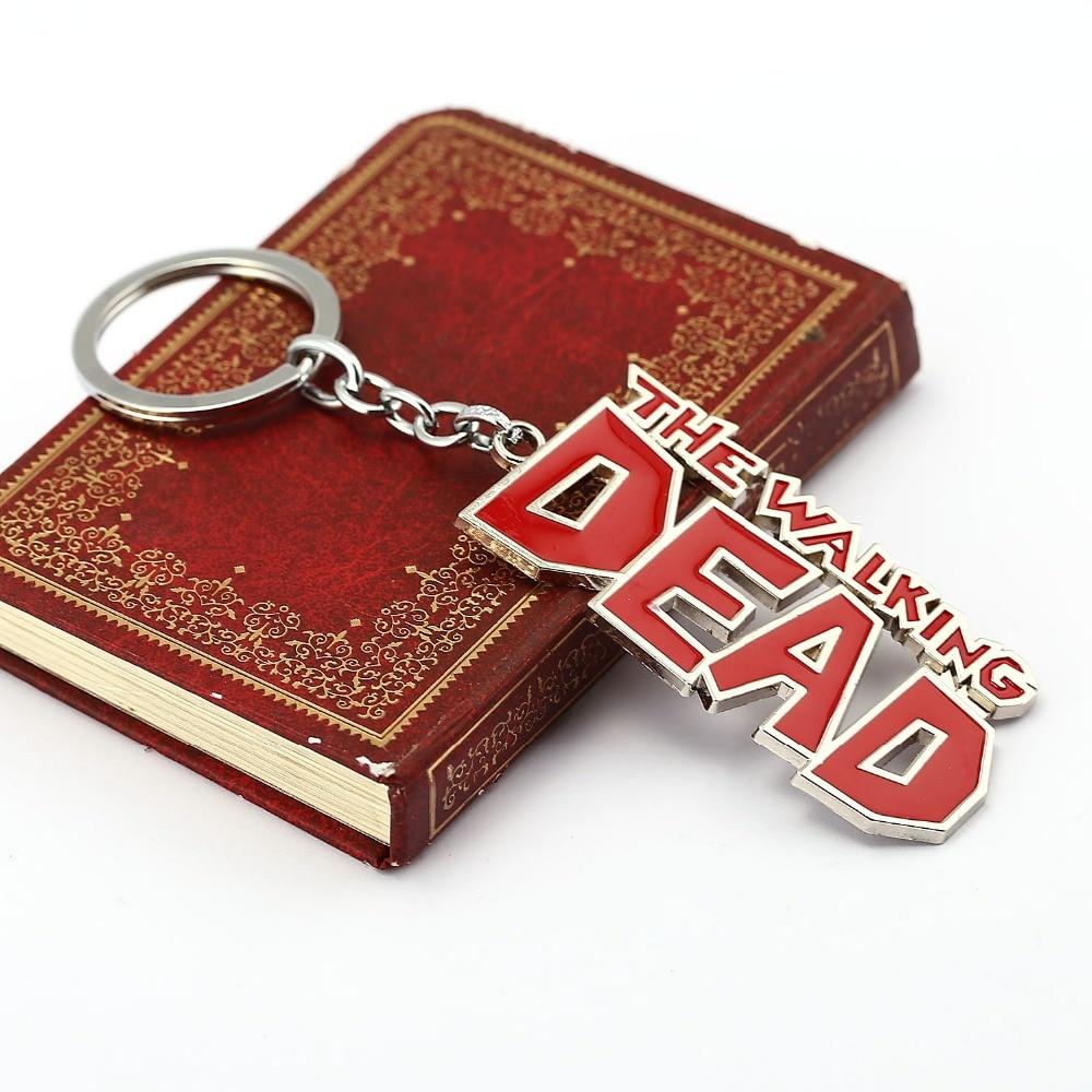 10 pçs/lote Walking Dead Keychain The Walking DEAD Letra Logo Metal Keychain Chave Do Carro Pingente Cadeia Chaveiro Atacado HC11725