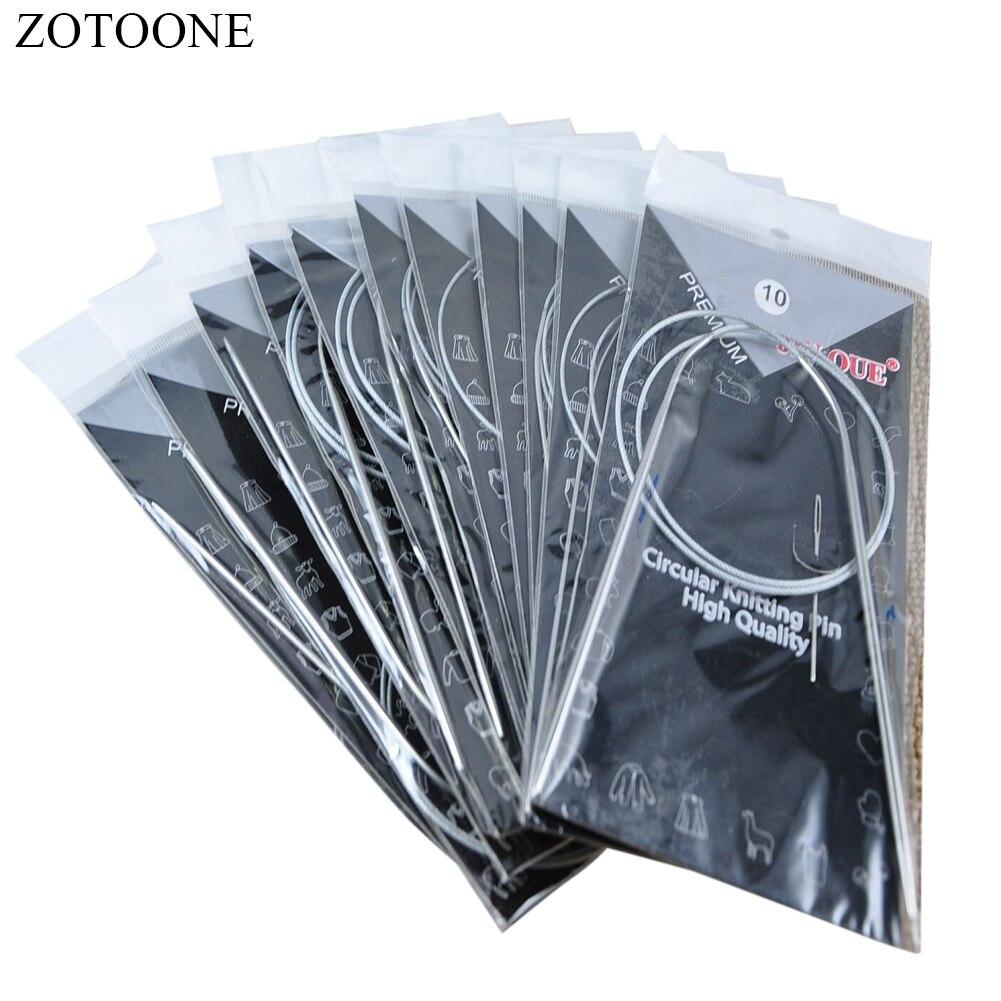 ZOTOONE 11 pçs/set 80 centímetros Inoxidável Circular Agulhas De Tricô Circular Tricô Ferramentas de Costura Suprimentos Artesanato Acessórios de Costura