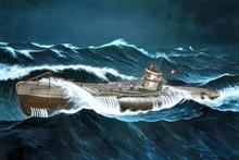 Affiche de tissu imprimé personnalisé   Affiche sous-marin allemand Erich Topp WWII U boot type VIIC MD651, pour décoration de salle dart murale, décoration de la maison