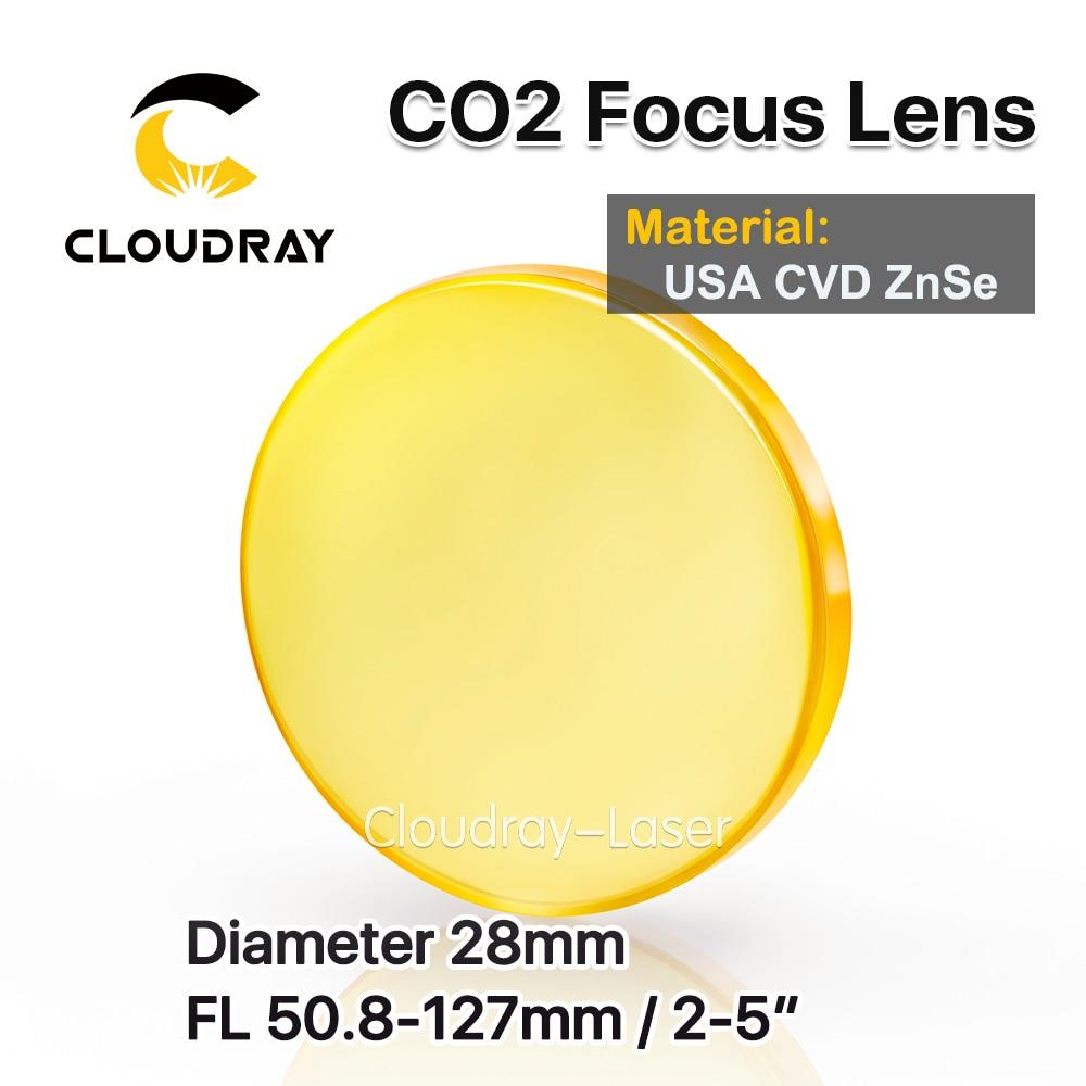 Cloudray-عدسة تركيز CVD ZnSe ، قطر العدسة ، الولايات المتحدة الأمريكية 28 مللي متر FL 50.8/63.5/127 مللي متر 2/2.5/5
