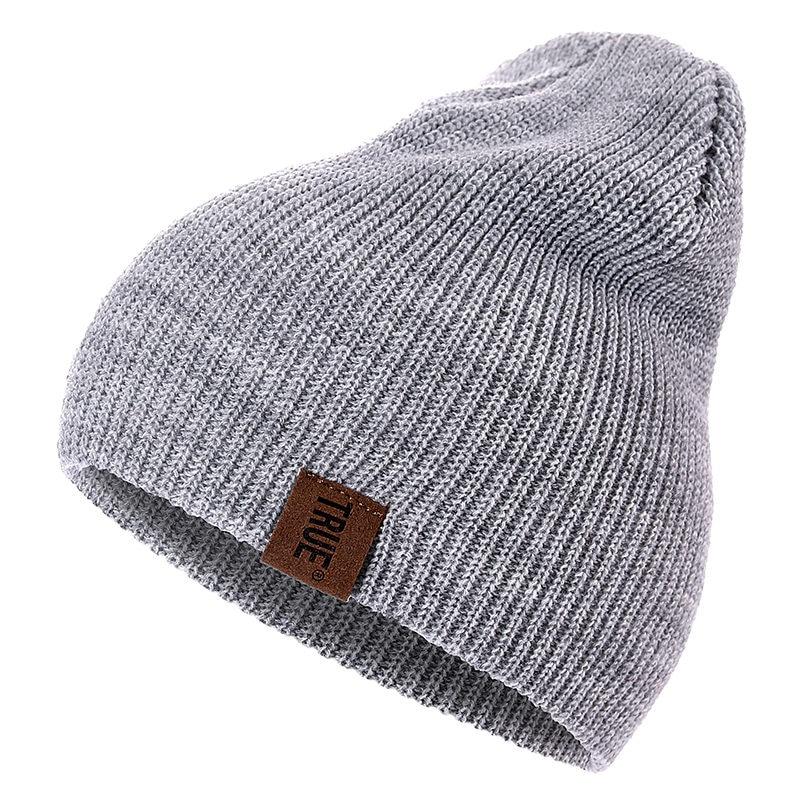 Повседневные облегающие шапки из искусственной кожи с надписью True для мужчин, женщин, девочек и мальчиков, Модная вязаная зимняя шапка, одно...