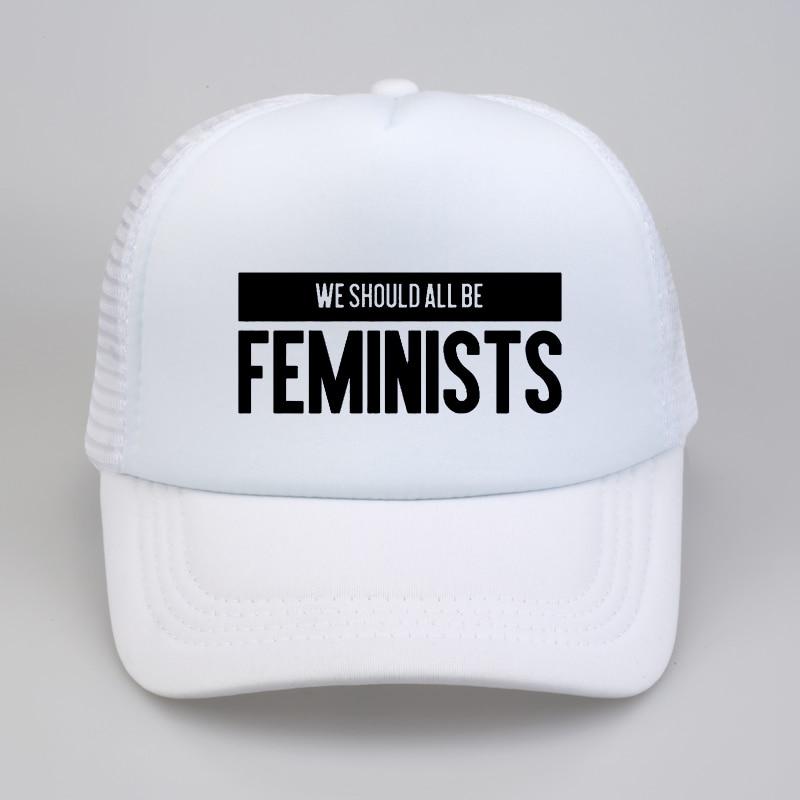 We Should All Be Feminists print cap fashion Summer cool Mesh Baseball caps Women Equal Right snapback hat printio футболка классическая we should all be feminists