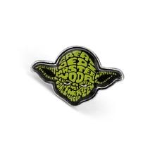 Estrella batalla maestro Yoda personaje Pin broche emblema insignia puede maestro joyería Metal joyería agradable para regalo para Amiga aliens broche