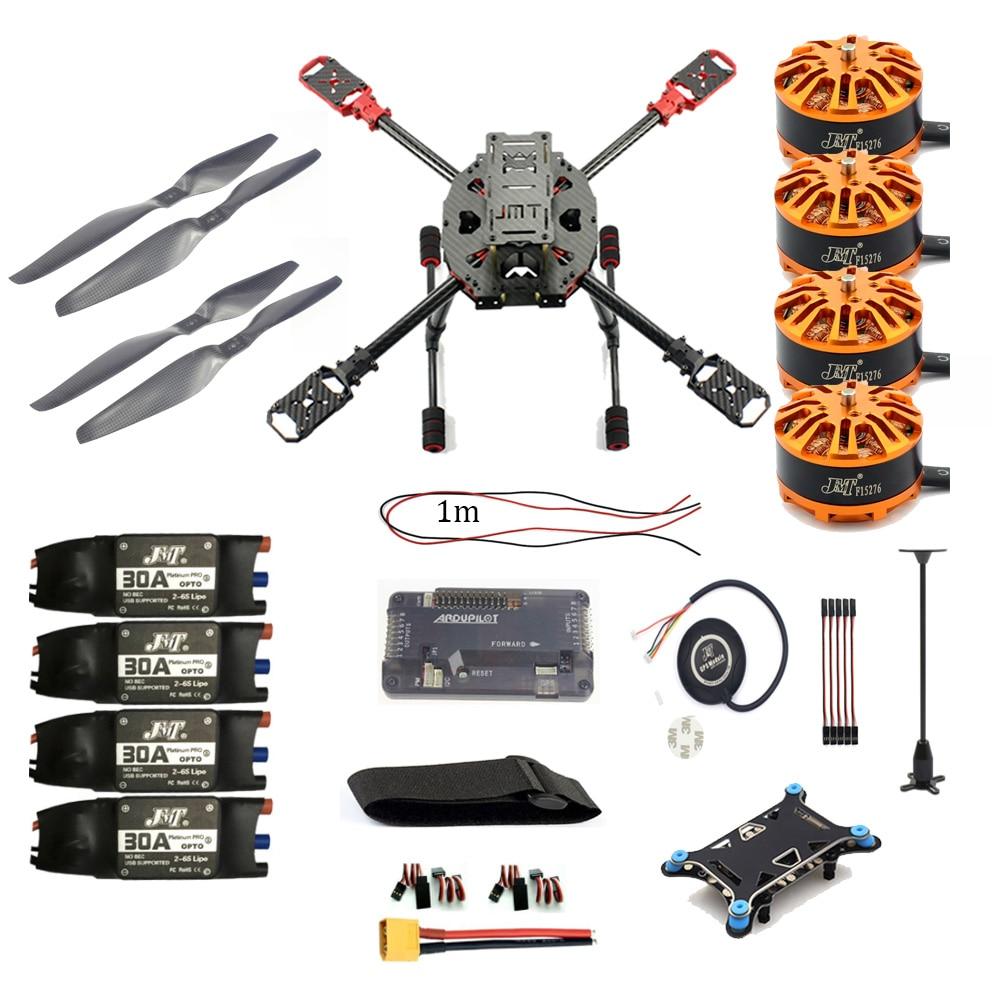 JMT DIY Helicopter Copter 2.4GHz 4-Aixs RC Drone ARF APM2.8 M7N GPS 630MM Carbon Fiber Frame W/ Motor ESC Props Accessory