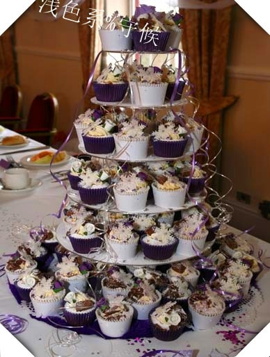 Exquisite clear acrylic cake tower 6 Tier Round Beautiful HIgh Quality Acrylic Cupcake Stand Wedding Festival decoration
