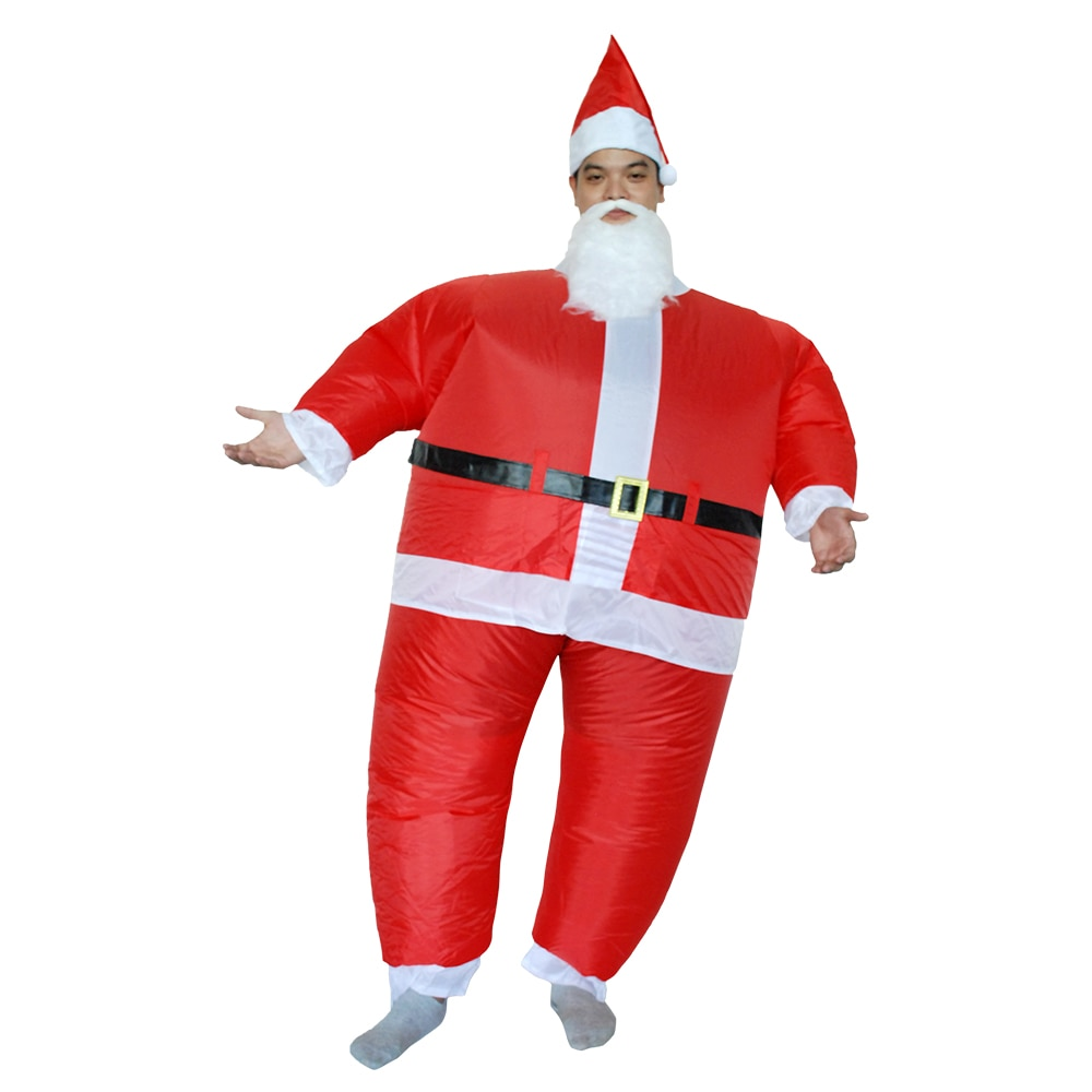 Disfraz de Halloween para mujeres disfraz inflable de Papá Noel