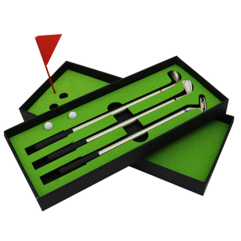 Creativo Mini bolígrafo de Gel de Golf Bolígrafo De Metal juego de caja de regalo para golfistas decoración de escritorio para suministros escolares papelería