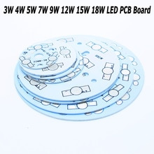 Оптовая продажа, светодиодная теплоотвод, алюминиевая основа, 3 Вт, 4 Вт, 5 Вт, 7 Вт, 9 Вт, 12 Вт, 15 Вт, 18 Вт, светодиодная плата PCB, сделай сам, для 1 Вт, чип для светодиодной лампы высокой мощности