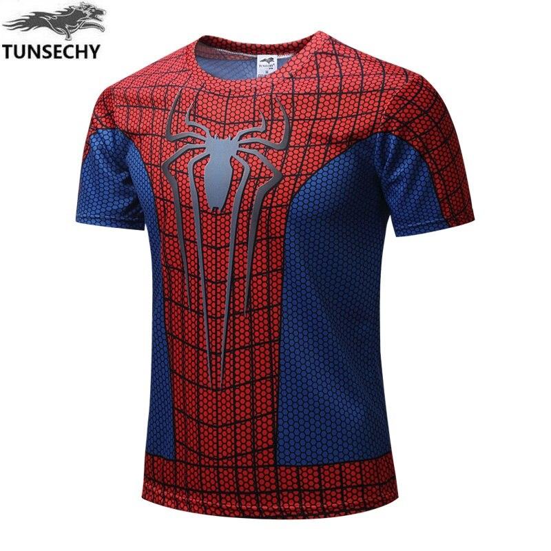 2017 TUNSECHY Marke mode super hero The hulk batman iron man Das T-shirt männer fitness kurzarm digitaldruck T-shirt