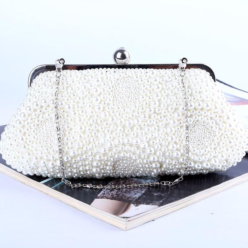 Evening Bag Women Luxury Wallet Beading Diamonds Hasp Handbag Clutches Mini Party Wedding Hobos Purse 7734-13B