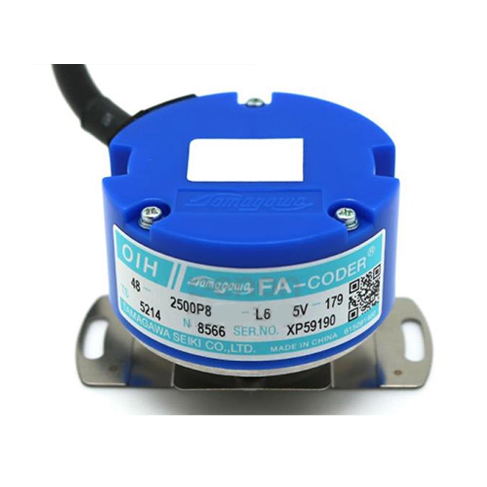 TAMAGAWA OIH48-2500P4-L6-5V Servo Motor Encoder 2500 pulse TS5214N500 TS5214N8566 N8599 DC5V Line Driver UVW output encoder